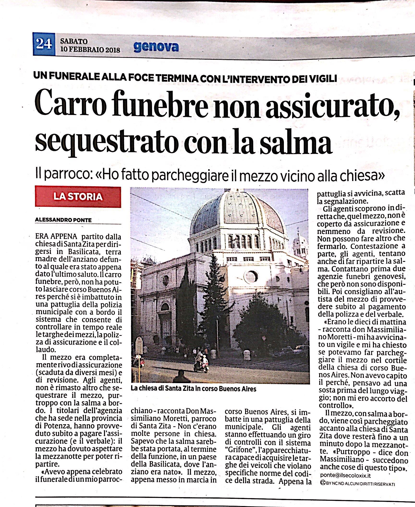 A Genova i Vigili non guardano in faccia a nessuno