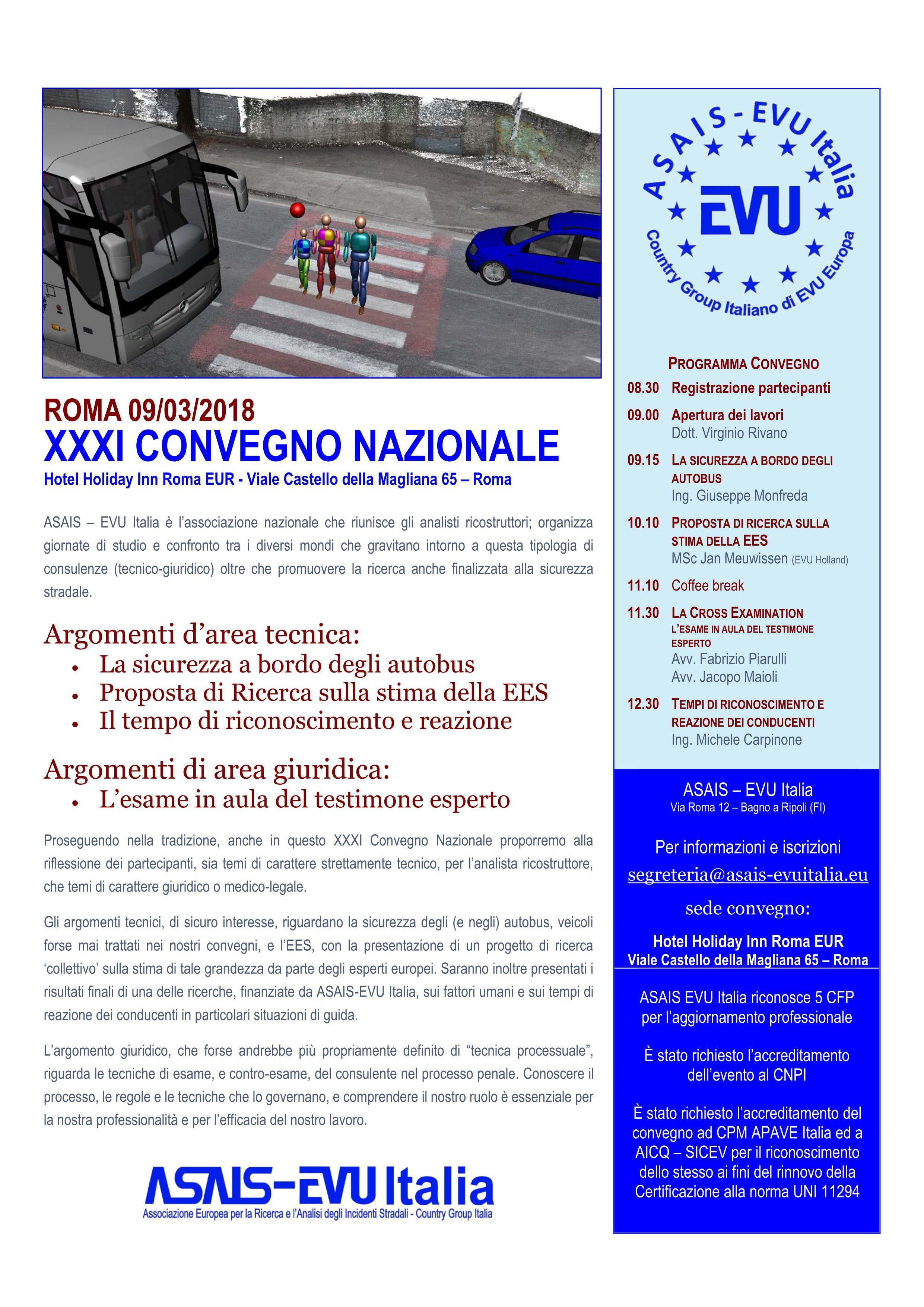 XXXI CONVEGNO NAZIONALE ASAIS – EVU Italia