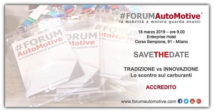 FORUM AutoMotive – Milano 18 marzo 2019
